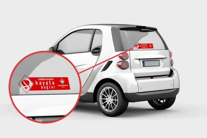 Sticker - Araç Üstü Folyo Çıkartma - Bahçeşehir Koleji