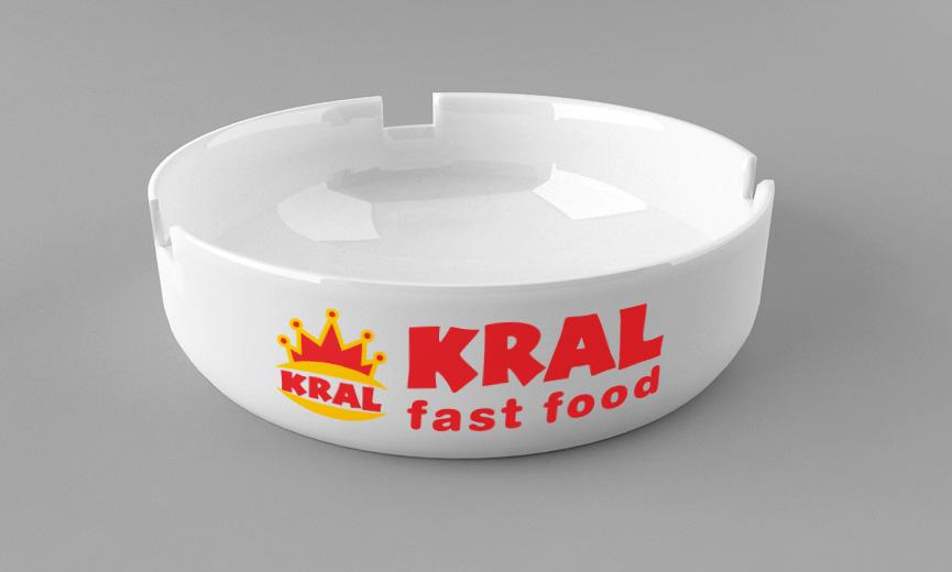 Kül Tablası Üzerine Logo Baskı, Promosyon Ürünleri - Kral Fast Food