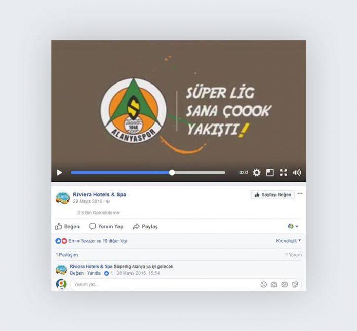 Sosyal Medya Videosu - Riviera Hotel & Spa - Alanyaspor Kutlama Mesajı