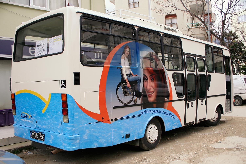 Halk Otobüsü Giydirme - Alanya Belediyesi