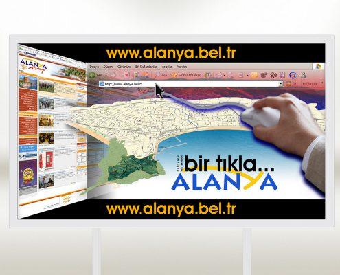 Belediye Web Sitesi Billboard Afişi - Alanya Belediyesi