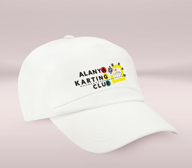 Şapkacı - Logo Baskılı Promosyon Beyaz Şapka