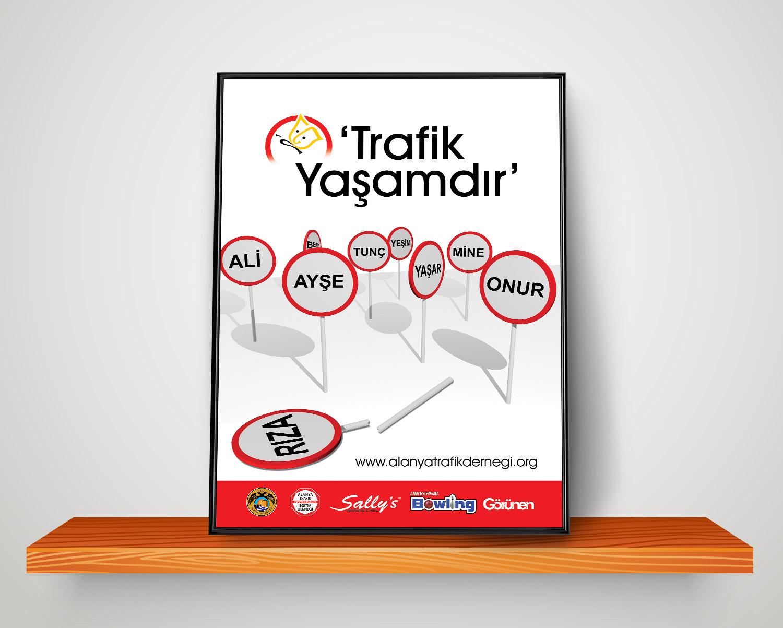 Trafik Afişleri Tasarımı Alanya Trafik Eğitim Derneği Antalya