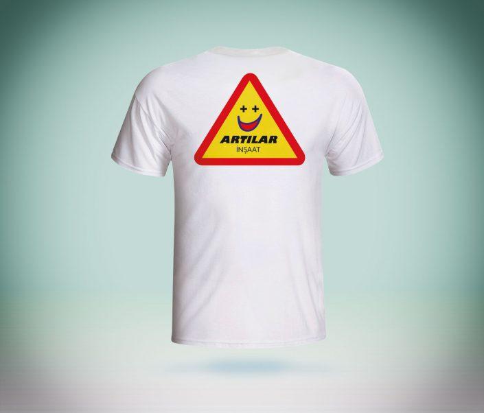 Sıfır Yaka T-Shirt - Artılar İnşaat
