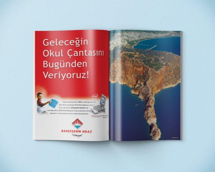 Dergi ilanı tasarımı - Bahçeşehir Koleji