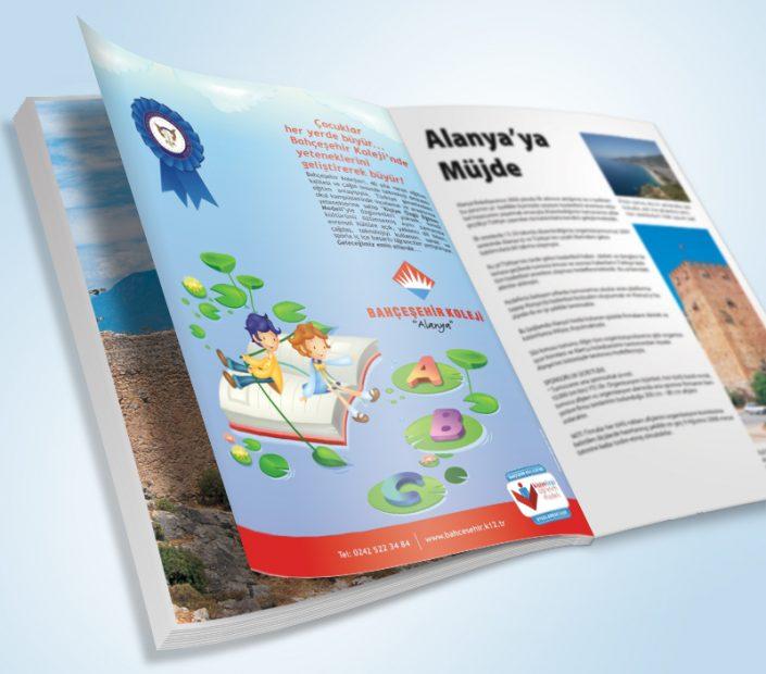 Dergi Reklam / İlan Tasarımı - Bahçeşehir Koleji