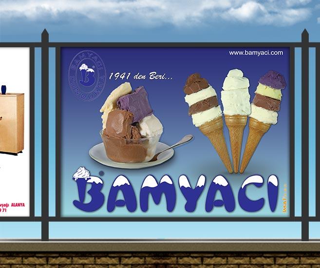 Stadyum Reklam Panosu - Bamyacı Dondurma