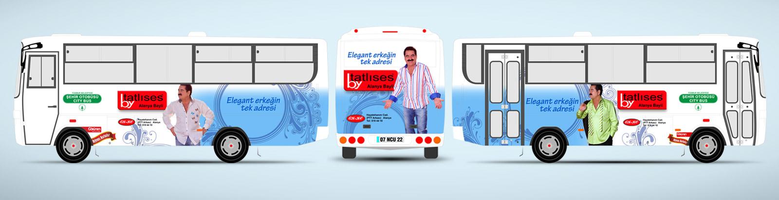 Halk Otobüsü Reklamı - By Tatlıses Giyim Mağazası