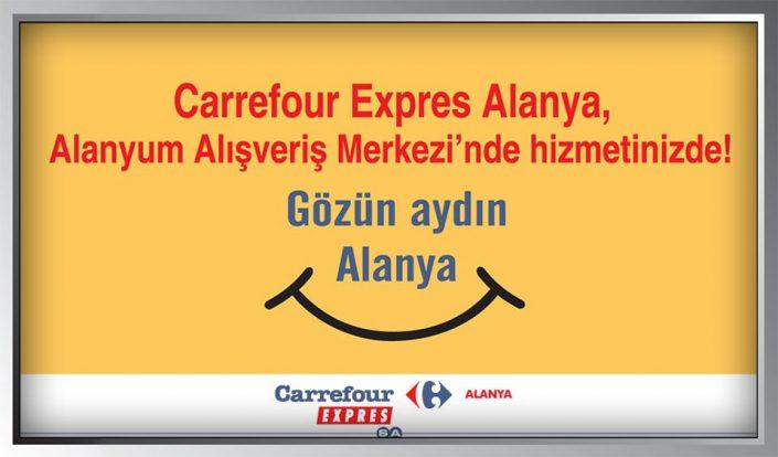 Carrefour Expres Billboard Afişi - Alanya Market Şubesi