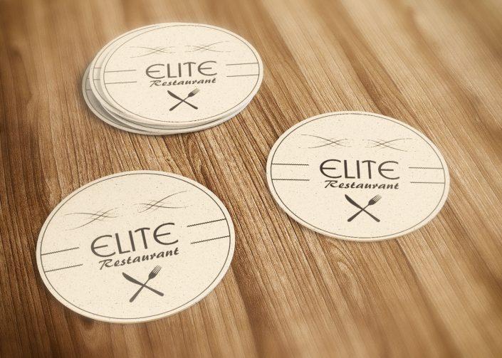 Bardak Altlığı - Elite Restaurant Cafe & Bar