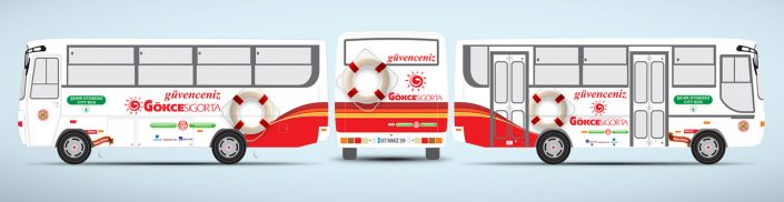Sigorta Şirketi Halk Otobüsü Reklamı - Gökçe Sigorta