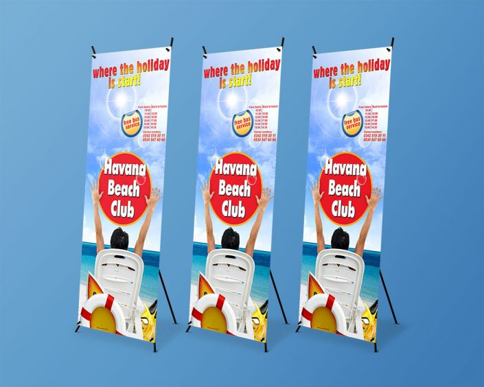 X Banner Ayaklı Stand - Havana Beach Club