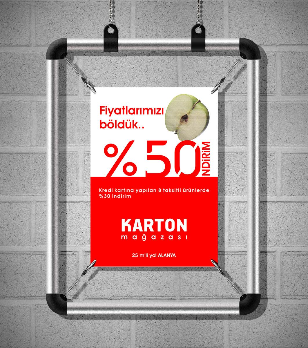 Poster Tutucu - Karton Mağazası