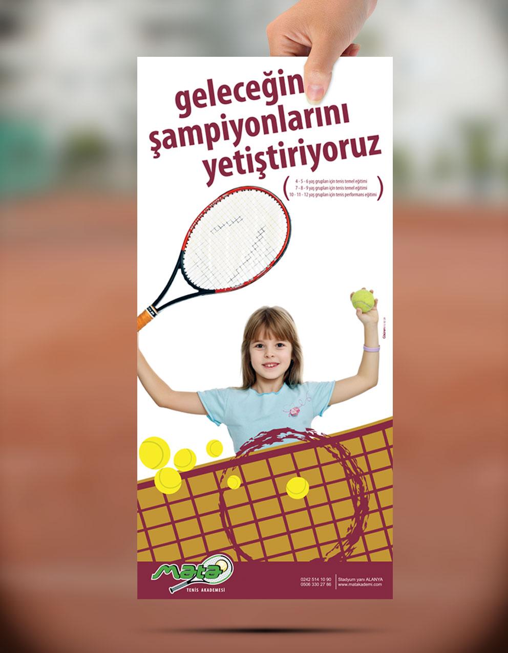 Poster Tasarımı - Mata Tenisi Akedemisi