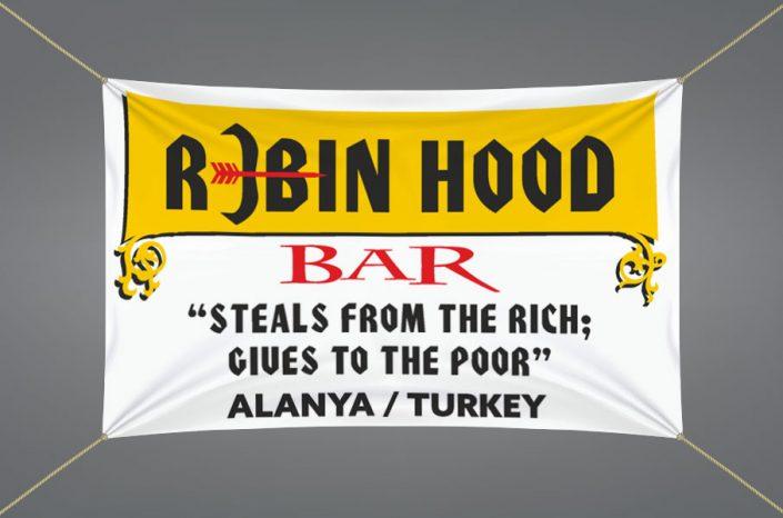 Bar Afiş Tasarımı - Robin Hood Club Alanya - Antalya