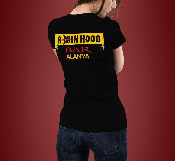 Serigrafi Baskılı T-Shirt - Robin Hood Bar