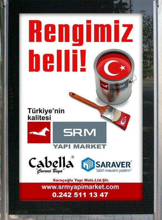 Boya Firması Billboard & Raket Afişi - SRM Yapı Market