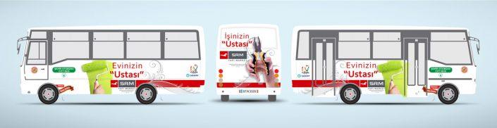 Nalbur Tanıtımı Halk Otobüsü Reklamı - SRM Yapı Marke