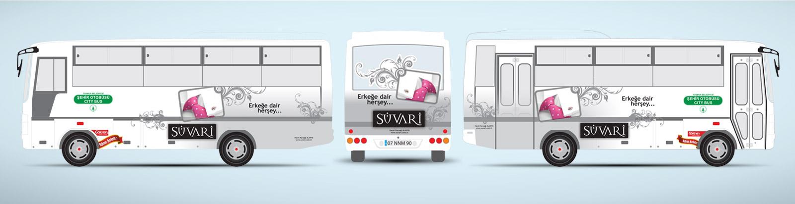 Giyim Mağazası Tanıtımı Halk Otobüsü Reklamı - Süvari