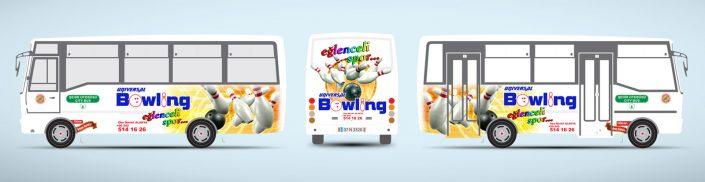 Bowling Salonu Halk Otobüsü Reklamı - Universal Bowling