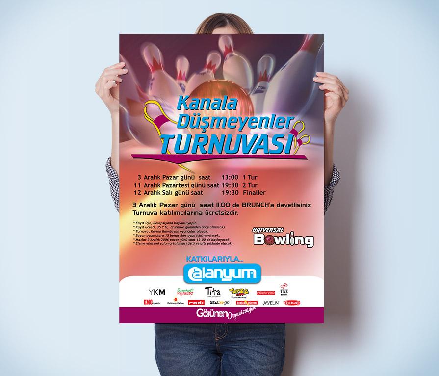 Turnuva Afişi Tasarımı - Poster - Universal Bowling