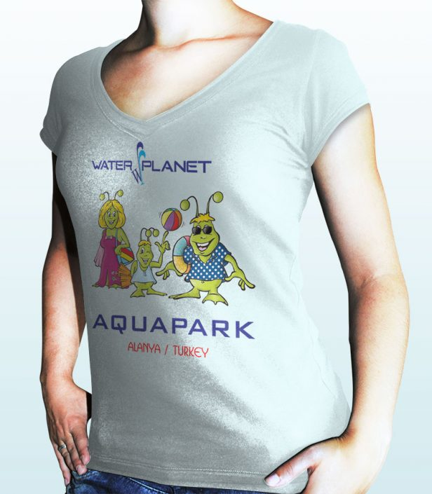 T-Shirt Baskısı - Water Planet Delux & Aquapark