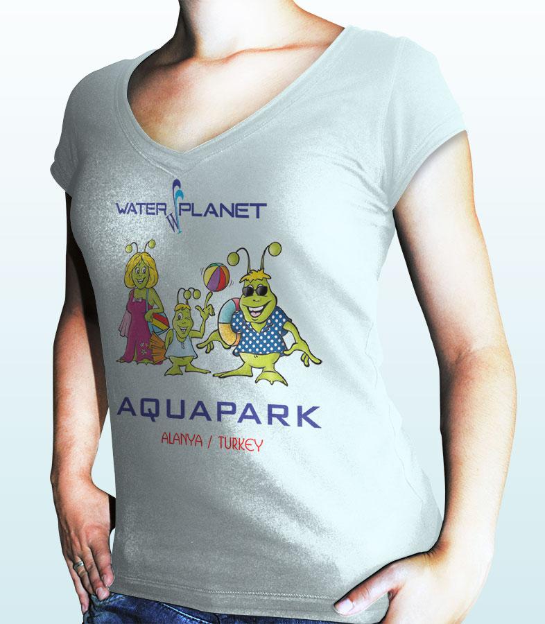 T-Shirt Baskısı - Water Planet Delux & Aquapark