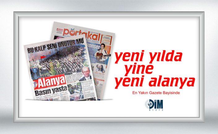 Yeni Yıl Kampanya Afişi - Yeni Alanya Gazetesi