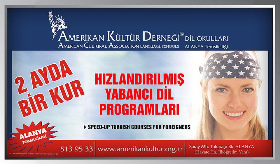 Amerikan Kültür Yabancı Dil Kursu Billboard Afiş Tasarımı