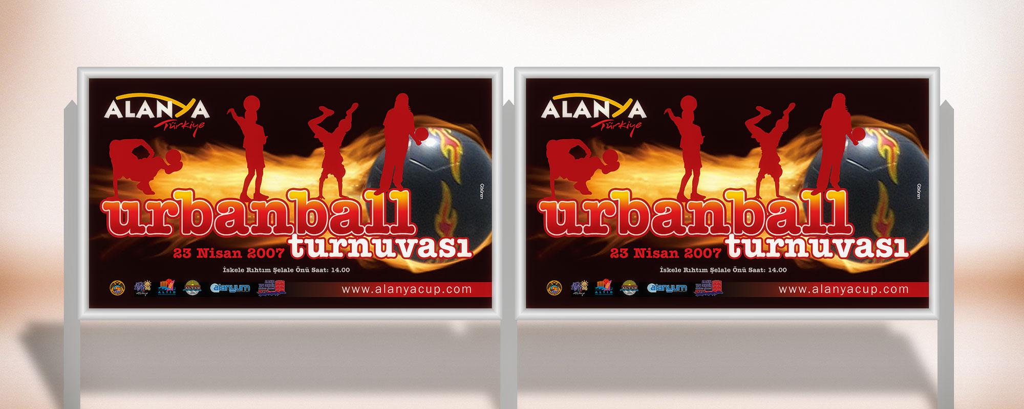 Billboard Afişi - Urbanball Turnuvası - Alanya Belediyesi
