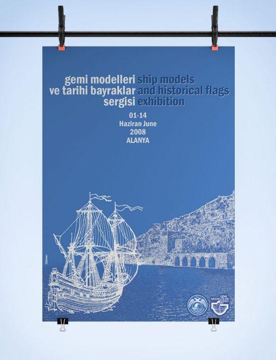 Gemi Modelleri ve Tarihi Bayraklar Sergisi Afişi - Alanya Belediyesi