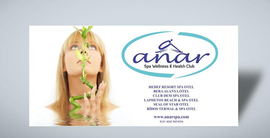 Saha Kenarı Reklam Panosu - Anar Spa Wellness Alanya