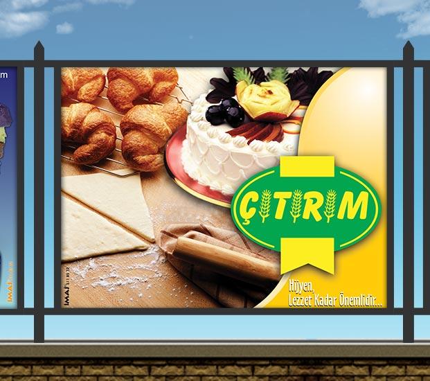 Pastane Stadyum Reklam Panosu - Çıtırım Pastanesi
