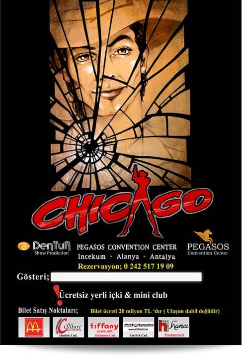 Poster Afiş - Dentur Turizm Moulin Rouge, Müzikali, Chicago Müzikali