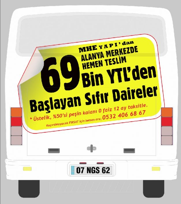 inşaat firması kampanyası - halk otobüsü reklamı - Ersoy İnşaat