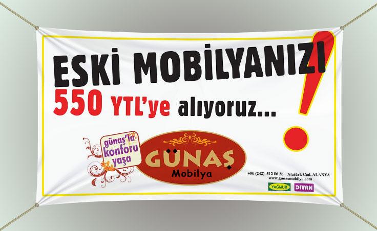 Mobilyacı Branda Afiş - Günaş Mobilya
