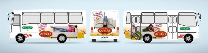 Mobilya Mağazası Halk Otobüsü Reklamı - Günaş Mobilya