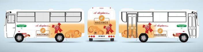 Kasap Tanıtımı Halk Otobüsü Reklamı - Hacıince