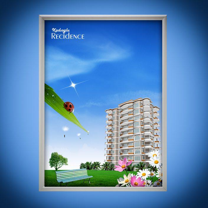 Residence Poster Tasarımı Kadıoğlu İnşaat
