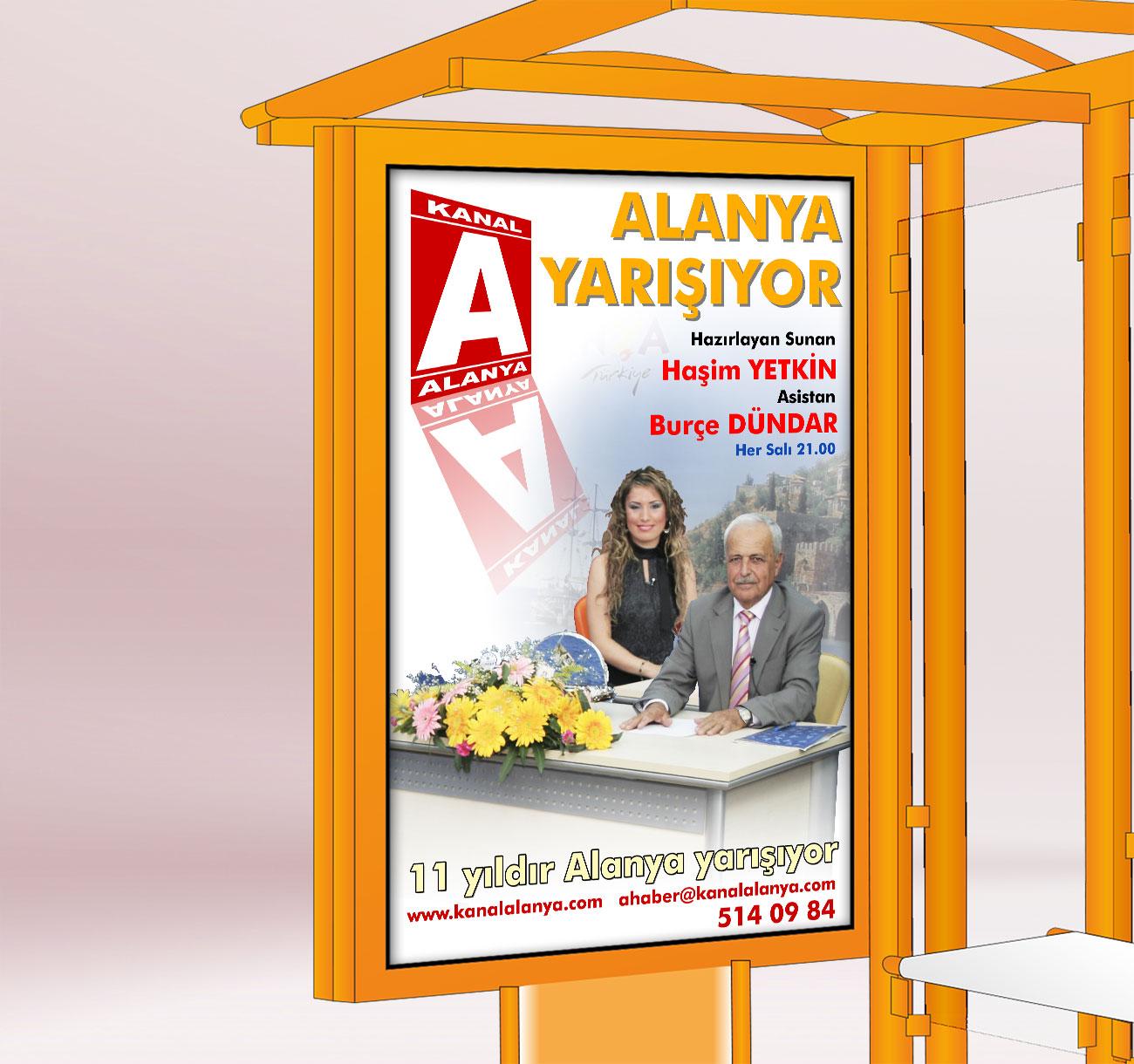 Televizyon Tanıtımı Billboard ve Raket Afişi Kanal A