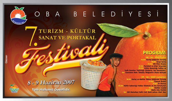 Festival Reklamı - Turizm, Kültür, Sanat ve Portakal Festivali