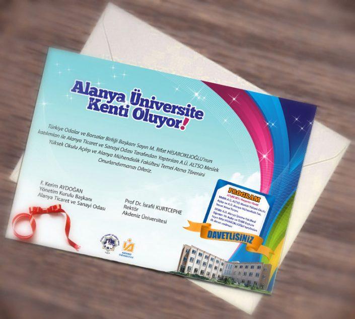 Temel Atma Töreni Tanıtım Kampanyası Okul Açılış Davetiyesi - ALTSO Meslek Yüksek Okulu Alanya