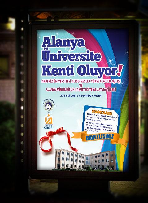 Bilbord ve Otobüs Durağı Afişi - ALTSO Meslek Yüksek Okulu