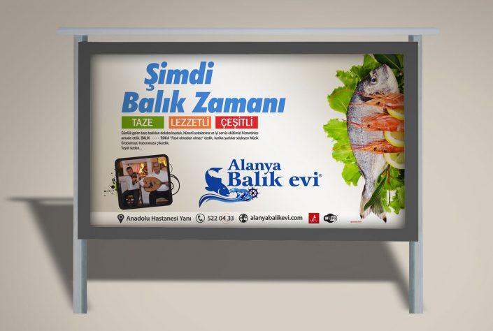 Balık Evi Tanıtım Kampanyası -Açıkhava Reklam