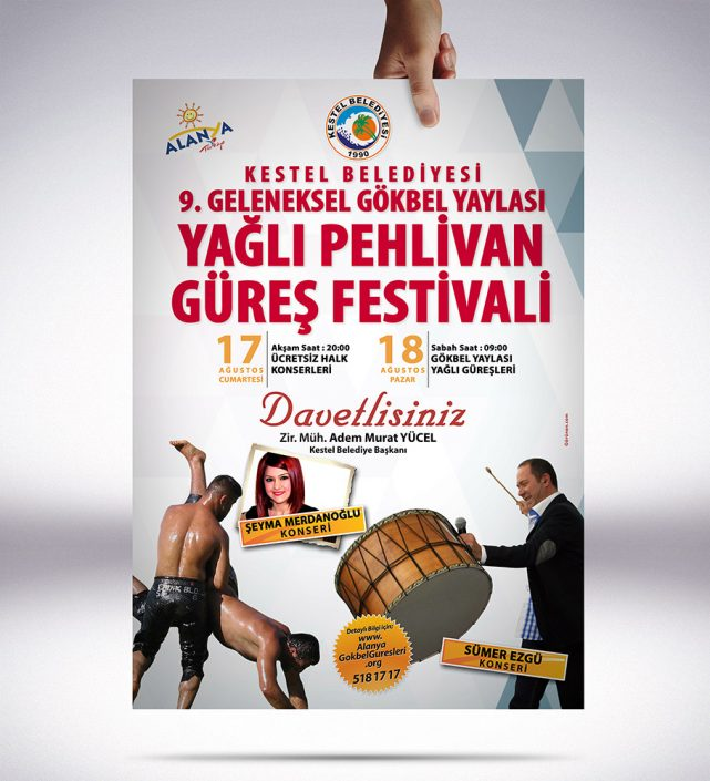 Poster - Gökbel Yaylası Yağlı Pehlivan Güreş Festivali Alanya Kestel Belediyesi