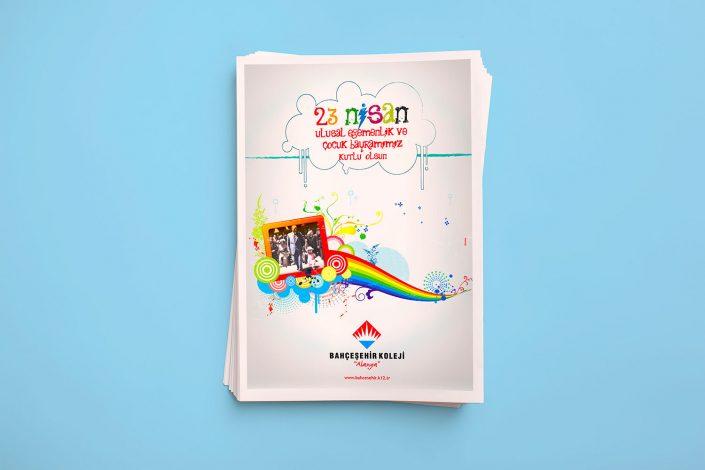 23 Nisan Bayramı TabloidGazete Reklamı - Bahçeşehir Koleji