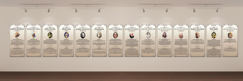 Duvar Tabloları - Biyografi Tablosu - Bahçeşehir Koleji