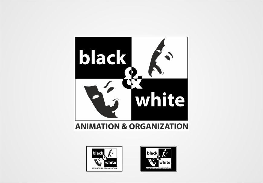 Siyah Beyaz Logo Tasarımı Black & White Organizasyon