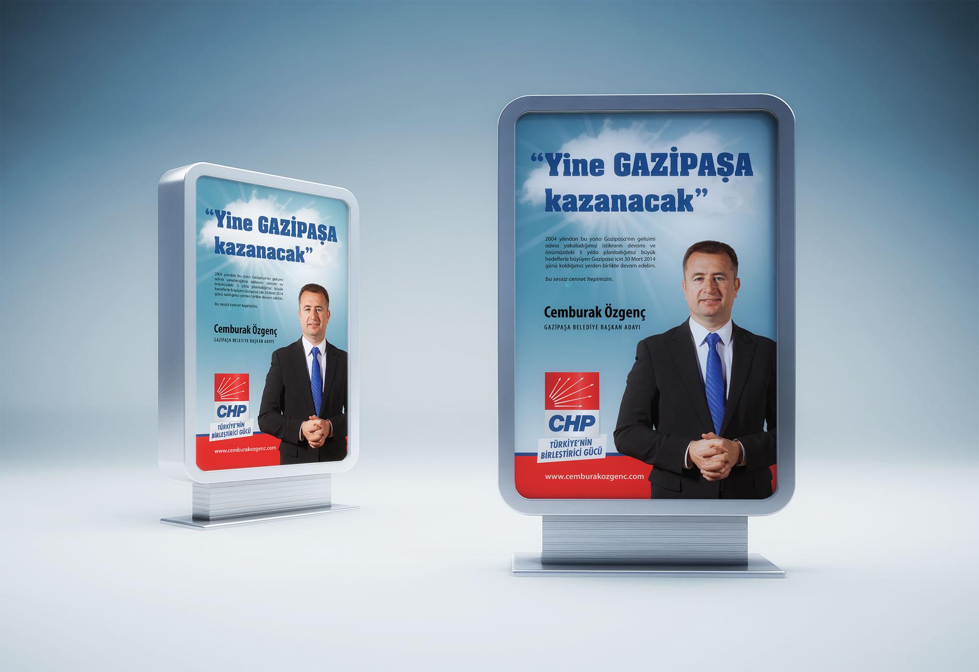Seçim Kampanyası Afişi - Cem Burak Özgenç