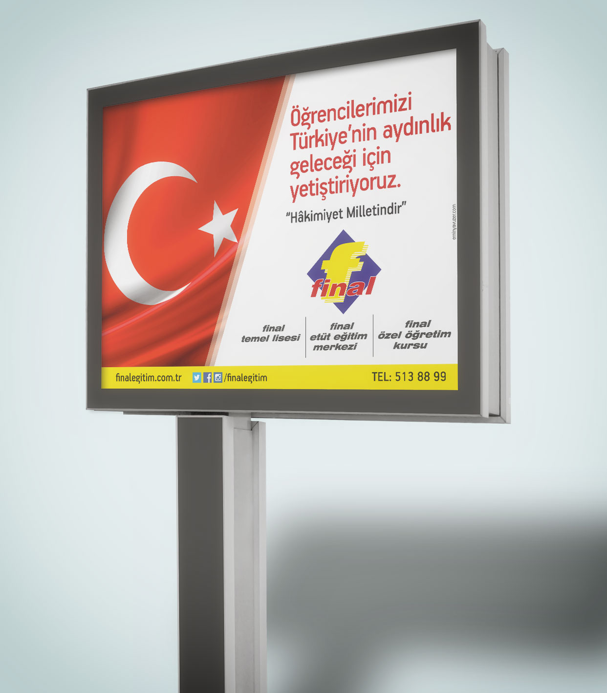 Megalight Afişi - Final Eğitim Kurumları - Açıkhava Reklamları